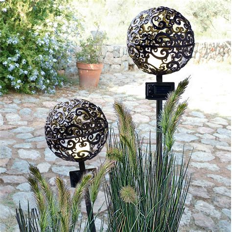 solarleuchten garten antik gartenlampe kugel my lovely
