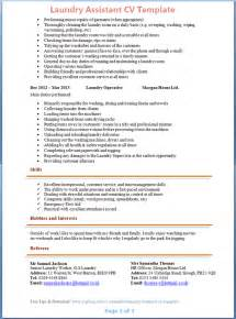 laundry worker cv template 2
