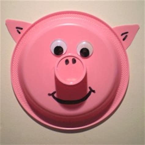 Pig Paper Plate Craft - paper plate pig