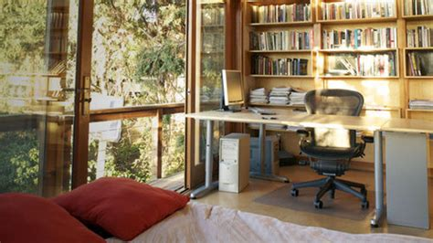 writer s room reclaimed wood and plenty of sunlight a writer s workspace in the trees lifehacker australia