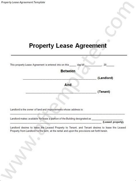 3 Best Lease Agreement Templates All Free Word Templates Property Lease Contract Template
