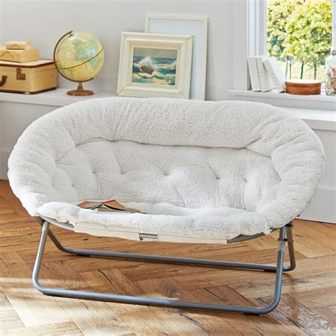dorm sofas ivory sherpa double hang a round chair pbteen