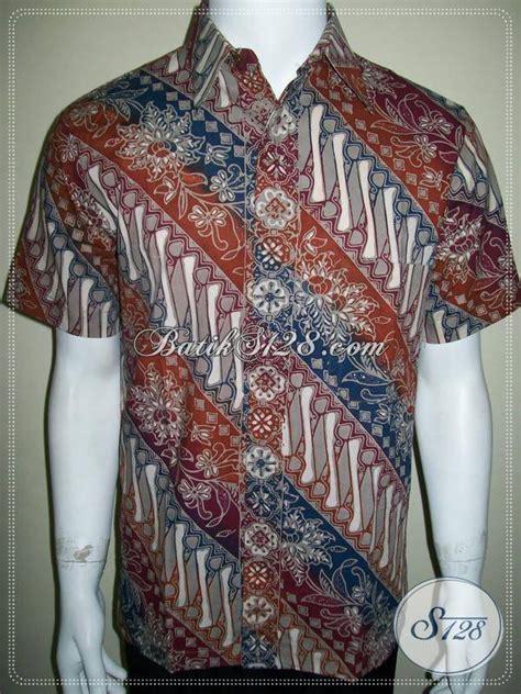 Kemeja Batik Parang Modern Gradasi Maroon kemeja batik modern motif klasik parang warna gradasi
