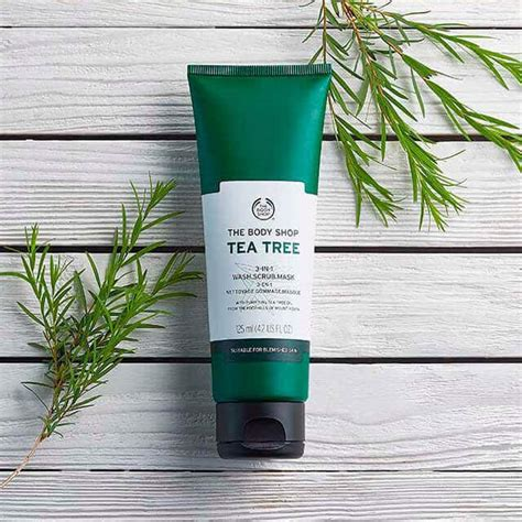 Masker Tea Tree Shop tea tree 3 in 1 wash scrub mask 4 2 fl oz