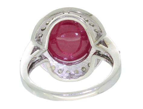 Ruby 5 25ct 10 25ct ruby ring in 14k white gold ebay