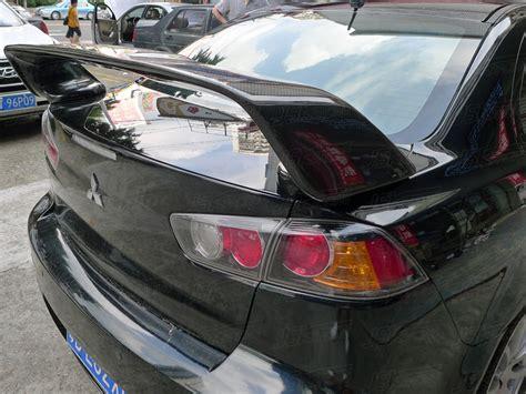 mitsubishi evo spoiler oem style carbon fiber rear spoiler for 2008 2015