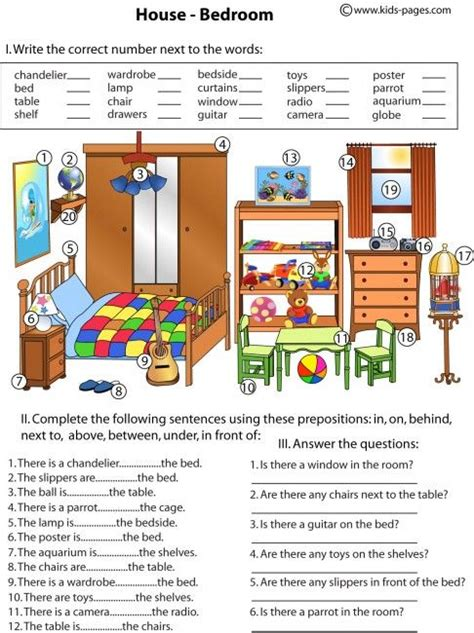 bedroom objects in spanish prepositions preposiciones ingl 233 s maestratrend