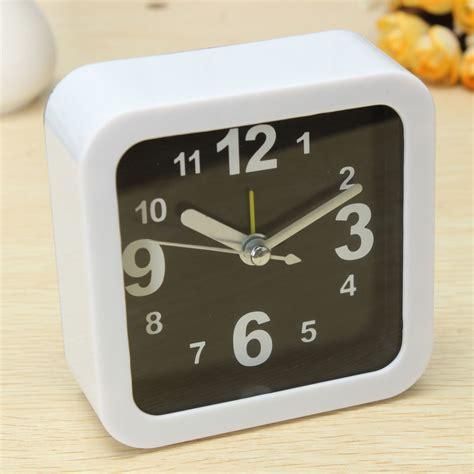 bedroom alarm clock white mini travel alarm clocks quartz alarm beep bedside