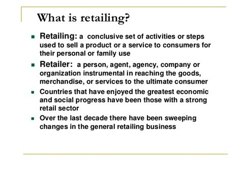 Retail Marketing Notes For Mba Students by Chapter 6 Retail Mgt