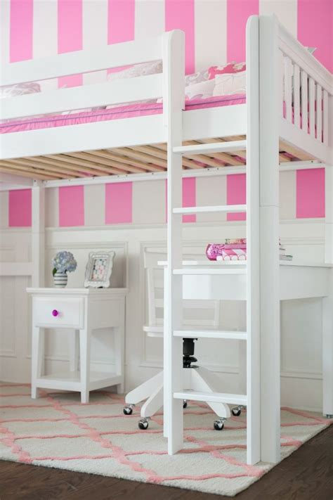 high loft bed with desk straight ladder for a white high loft bed with desk and