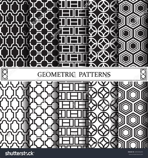 svg pattern fill url geometric black white vector pattern pattern stock vector