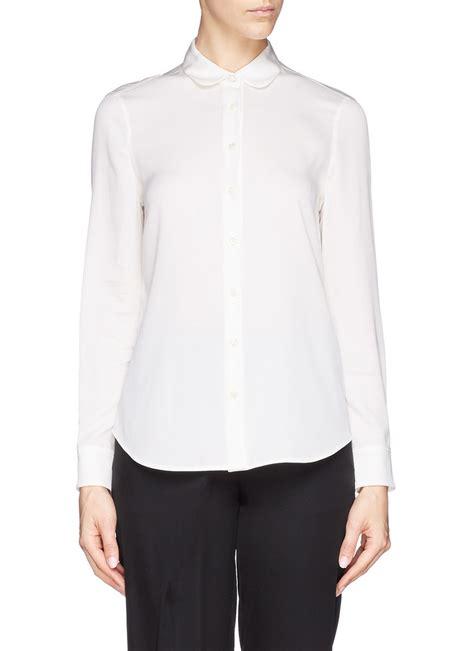 White Blouse Pan Collar by Black And White Pan Collar Blouse Blouse No Bra