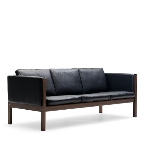 bloomingdales leather sofa carl hansen leather sofa with walnut frame bloomingdale s