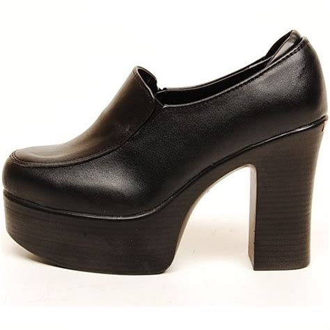 black 11cm wedges platforms high heels clogs mules