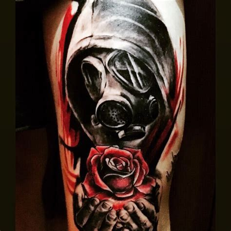 100 gas mask tattoos for men youtube collection of 25 realism gas mask on biceps