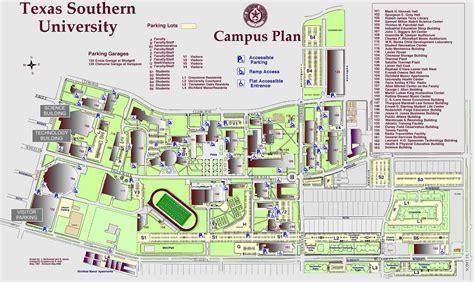 texas southern university cus map cus map