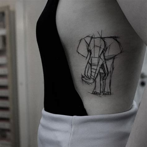 tattoo elephant geometric akaberlin art museum of the human body pinterest tattoo