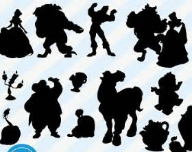 and beast silhouette silhouette etsy