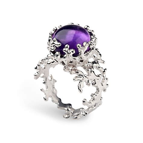 Amethyst Rings by Coral 14k Gold Amethyst Ring Purple Amethyst Engagement Ring