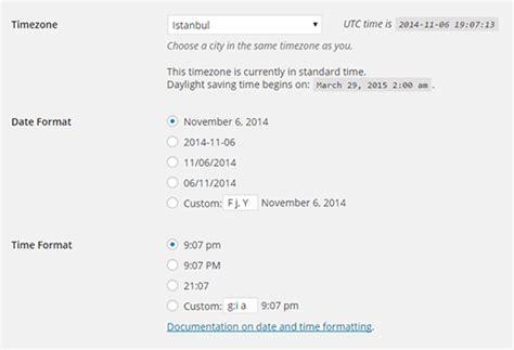 format waktu cara merubah format tanggal dan waktu di wordpress