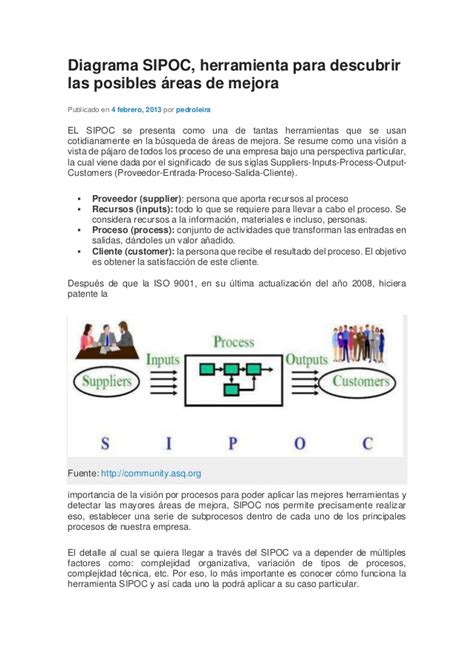 ejemplo de sipoc diagrama sipoc 1