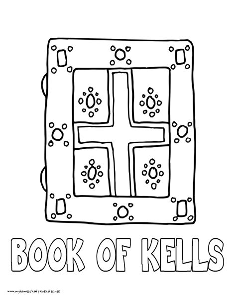 free coloring pages of book of kells