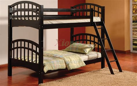 Achird Twin Twin Kids Bunk Beds In Black And White Xiorex Black Bunk Bed