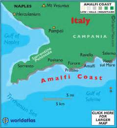 Map Of Italy Amalfi Coast by Amalfi Coast Map Italy