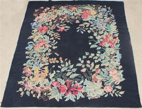 large flower rug large floral needlepoint wool rug