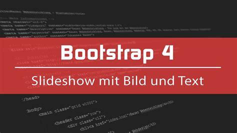 bootstrap tutorial youtube carousel bootstrap 4 tutorial 8 slideshow mit bild und text