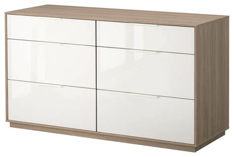 Modern Dresser Drawers by Nyvoll 6 Drawer Dresser Light Gray White Modern