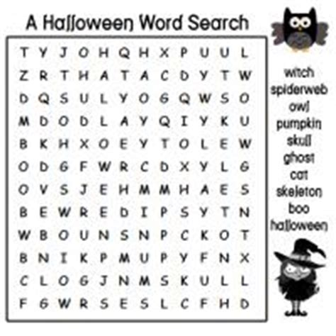 printable owl word search a halloween word search with the witch and the owl