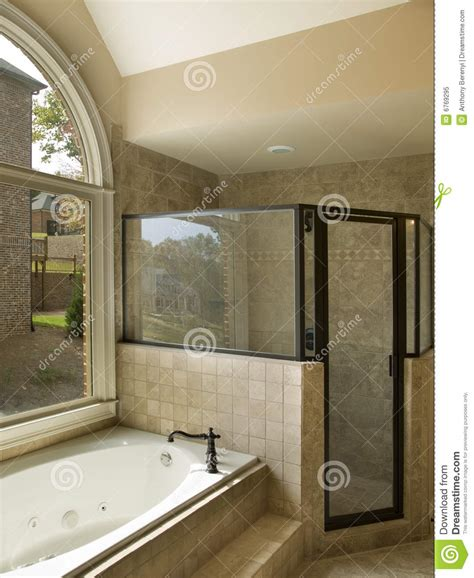 luxury bathtubs and showers luxury bathroom with jacuzzi and shower stock image