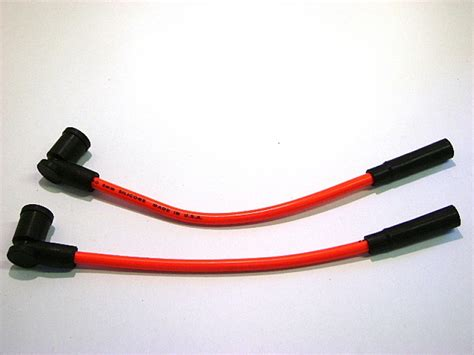spark wires colored orange 02 07 victory motorcycle