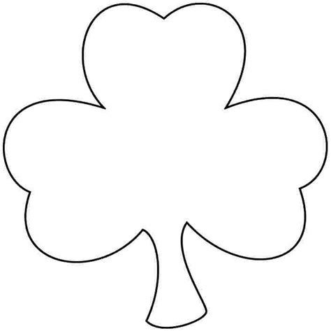 shamrock templates printable printable shamrock coloring pages coloring pages