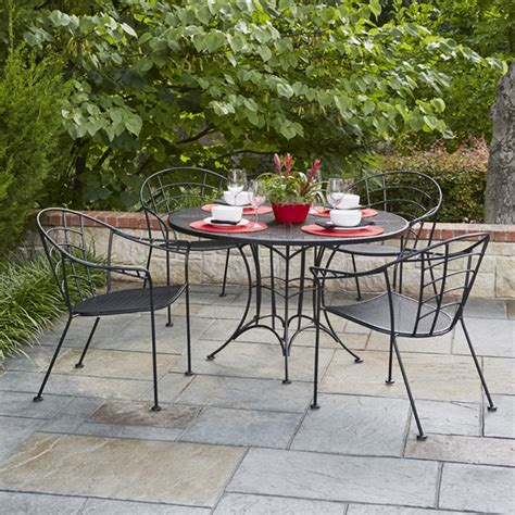 woodard hamilton wrought iron vintage patio dining set