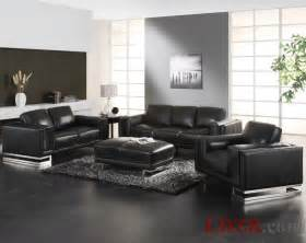 Leather Furniture Living Room Ideas Black Leather Sofa In Living Room Home Design And Ideas