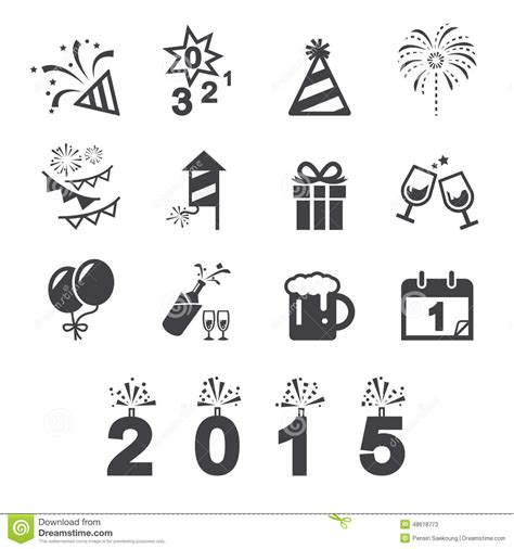 new year icon vector happy new year icon stock vector image of cocktail