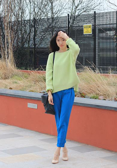 Cos Hits The Streets by Evan L Cos Neon Green Pullover Whistles Tailored