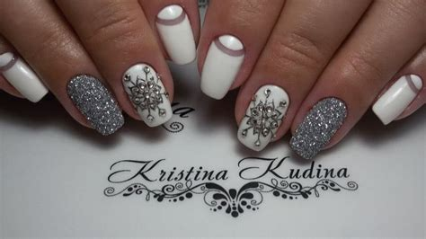 new year 2018 nail this is an idea for the design of winter nails 2018