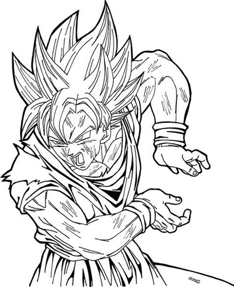 imagenes de goku vs naruto para colorear 50 desenhos do goku para colorir anime dragon ball z