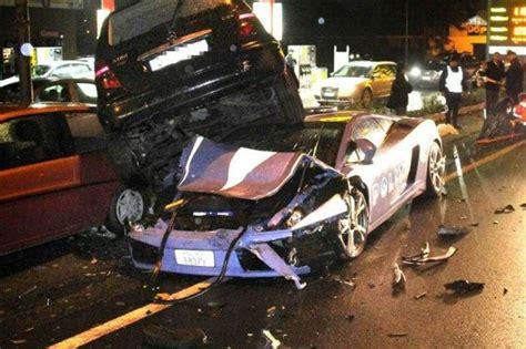 Italian Lamborghini Crash Lamborghini Crashed Evo