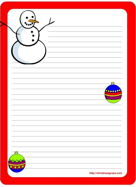 Christmas Letter Stationery Templates Invitation Template Letter Stationery Template Free