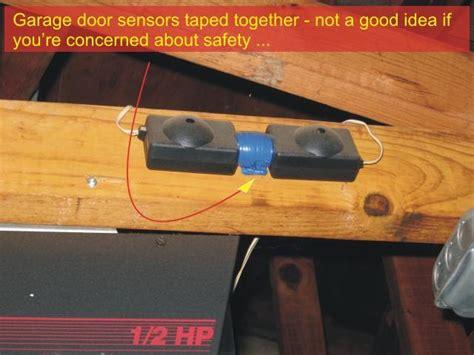 Installing Garage Door Sensors Garage Door Sensors Overhead Door Opener Sensor Troubleshooting Checkthishouse