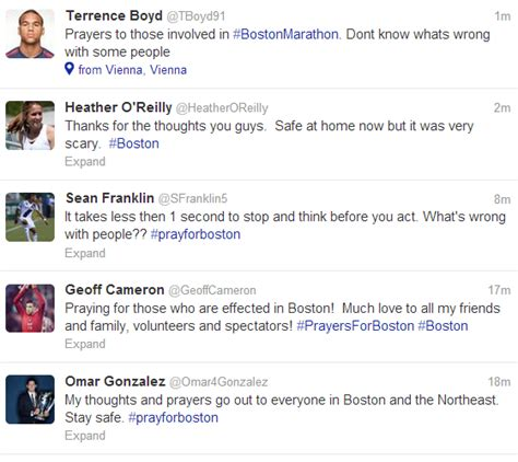 boston prayer table soccer players pitch in on boston marathon thoughts