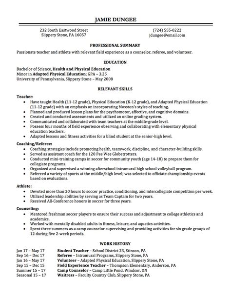 resume employment history format employment history on resume resume ideas