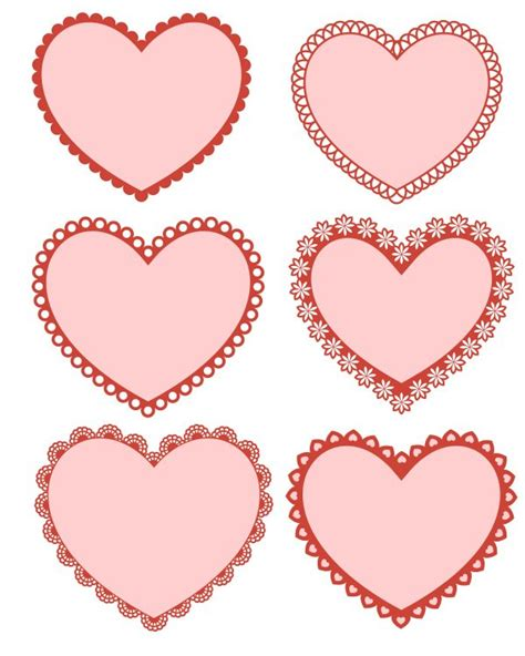 printable valentines decorations free printable hearts likes this