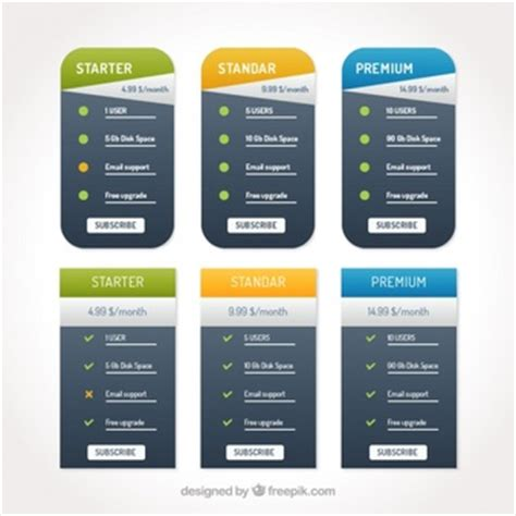 price plan vectors photos and psd files free download pricing table vectors photos and psd files free download