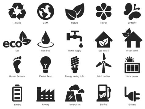 Plant Heat Lamp by Ecology Pictograms Vector Stencils Library Design