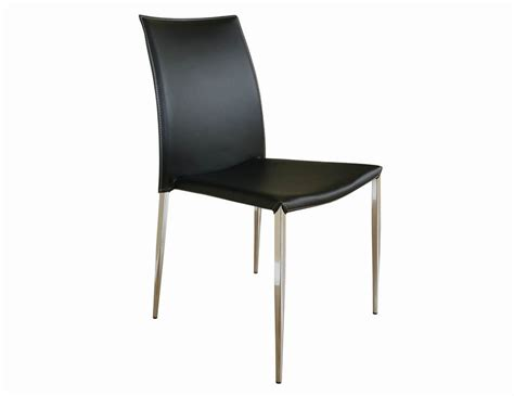 benton black leather dining chair wholesale interiors